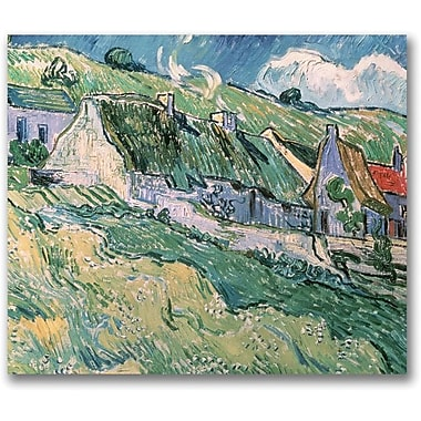 Trademark Global Vincent Van Gogh in.Cottages at Auvers-sur-Oise, 1890in. Canvas Arts