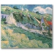 Trademark Global Vincent Van Gogh in.Cottages at Auvers-sur-Oise, 1890in. Canvas Art, 35in. x 47in.