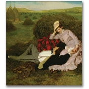 "Trademark Global Pal Szinyei Merse ""The Lovers 1870"" Canvas Art, 18"" x 18"""
