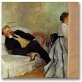 Trademark Global Edgar Degas in.Monsieur and Madame Edouard Manetin. Canvas Art, 18in. x 18in.