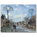 Trademark Global Camille Pissarro in.The Road to Louveciennesin. Canvas Arts