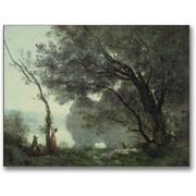 "Trademark Global Jean Baptiste Corot ""Recollections of Mortefontaine"" Canvas Art, 18"" x 24"""