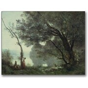 """Trademark Global Jean Baptiste Corot """"Recollections of Mortefontaine"""" Canvas Art, 24"""" x 32"""""""