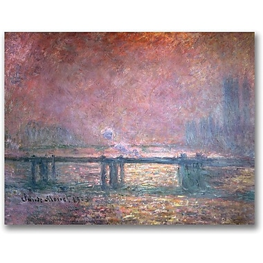 Trademark Global Claude Monet in.The Thames at Charing Crossin. Canvas Art, 18in. x 24in.