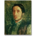 Trademark Global Edgar Degas in.Self Portrait as a Young Manin. Canvas Arts
