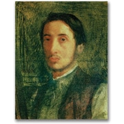 Trademark Global Edgar Degas Self Portrait as a Young Man Canvas Art, 47 x 35