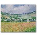 Trademark Global Claude Monet in.The Poppy Field near Givernyin. Canvas Art, 26in. x 32in.
