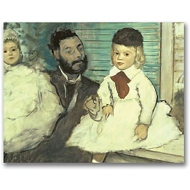 Trademark Global Edgar Degas in.Comte Le Pic and his Sonsin. Canvas Art, 26in. x 32in.