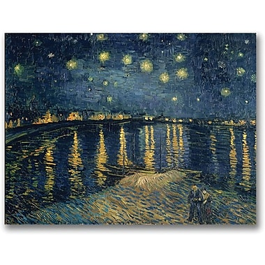 Trademark Global Vincent van Gogh in.A Starry Night Over the Rhonein. Canvas Art, 24in. x 32in.
