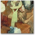 Trademark Global Edgar Degas in.The Millinery Shopin. Canvas Art, 24in. x 24in.