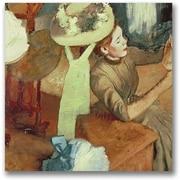 "Trademark Global Edgar Degas ""The Millinery Shop"" Canvas Art, 24"" x 24"""