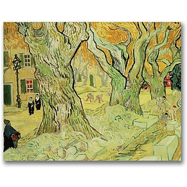 Trademark Global Vincent Van Gogh in.The Road Menders, 1889in. Canvas Arts