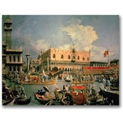 Trademark Global Canaletto Return of the Bucintoro Canvas Art, 16 x 24
