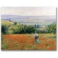 Trademark Global Leon Giran Max in.Woman in a Poppy Fieldin. Canvas Art, 18in. x 24in.