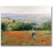 Trademark Global Leon Giran Max Woman in a Poppy Field Canvas Art, 18 x 24