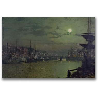 Trademark Global John Atkinson Grimshaw in.Baiting the Lines Whitbyin. Canvas Art, 30in. x 47in.