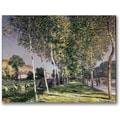 Trademark Global Alfred Sisley in.The Walkin. Canvas Arts