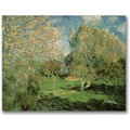 Trademark Global Alfred Sisley in.The Garden of Hoschede Familyin. Canvas Arts