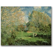 Trademark Global Alfred Sisley The Garden of Hoschede Family Canvas Art, 18 x 24