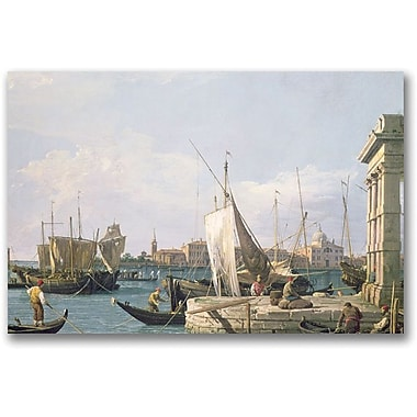 Trademark Global Canaletto in.The Punta Della Doganain. Canvas Arts