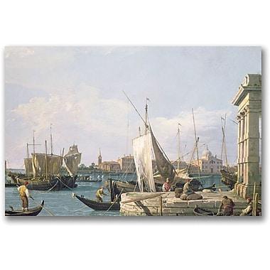 Trademark Global Canaletto in.The Punta Della Doganain. Canvas Arts