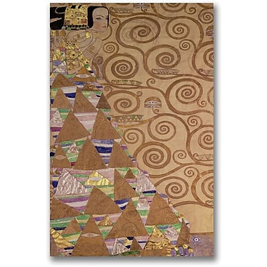 Trademark Global Gustav Klimt in.Expectation c.1905 9in. Canvas Art, 30in. x 47in.