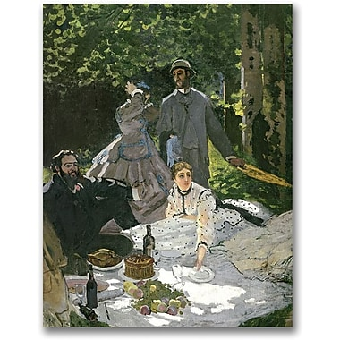 Trademark Global Claude Monet in.Dejeuner sur l'Herbe, Chaillyin. Canvas Arts