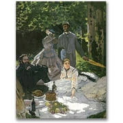 "Trademark Global Claude Monet ""Dejeuner sur l'Herbe, Chailly"" Canvas Arts"