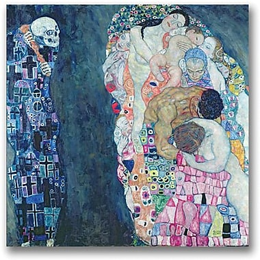 Trademark Global Gustave Klimt in.Death and Lifein. Canvas Art, 18in. x 18in.