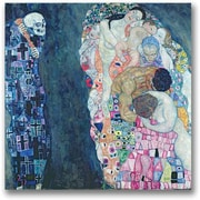 "Trademark Global Gustave Klimt ""Death and Life"" Canvas Art, 18"" x 18"""