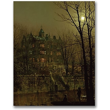 Trademark Global John Atkinson Grimshaw in.Knostrop Old Hall, Leedsin. Canvas Art, 24in. x 18in.