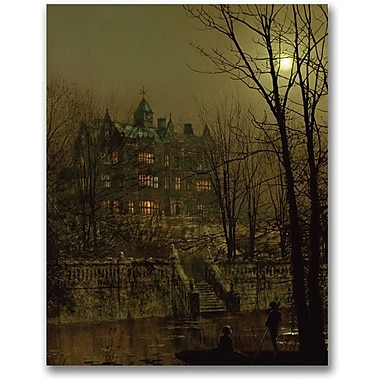 Trademark Global John Atkinson Grimshaw in.Knostrop Old Hall, Leedsin. Canvas Art, 47in. x 35in.