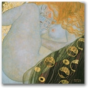 "Trademark Global Gustave Klimt ""Danae 1907 08"" Canvas Art, 18"" x 18"""