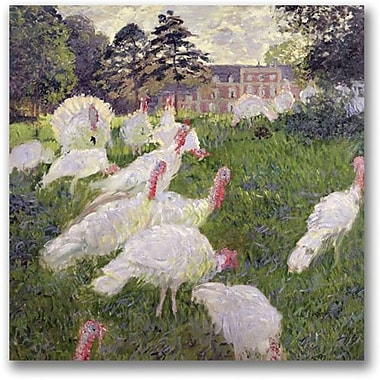 Trademark Global Claude Monet in.The Turkeys at the Chateauin. Canvas Art, 24in. x 24in.