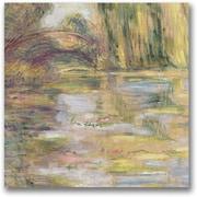 Trademark Global Claude Monet Waterlily Pond The Bridge Canvas Art, 24 x 24