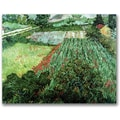 Trademark Global Vincent Van Gogh in.Field with Poppiesin. Canvas Arts