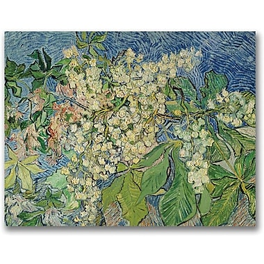 Trademark Global Vincent Van Gogh in.Blossoming Chesnut Branchesin. Canvas Art, 35in. x 47in.