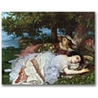 """Trademark Global Gustave Courbet """"Girls on the Banks of the Seine"""" Canvas Art, 18"""" x 24"""""""