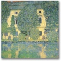 Trademark Global Gustav Klimt in.The Schloss Kammer on the Attersein. Canvas Art, 18in. x 18in.
