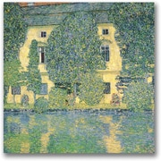 Trademark Global Gustav Klimt The Schloss Kammer on the Atterse Canvas Art, 18 x 18