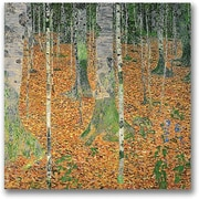 "Trademark Global Gustav Klimt ""The Birch Wood"" Canvas Art, 18"" x 18"""