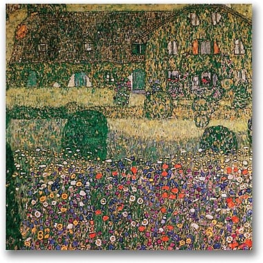 Trademark Global Gustav Klimt in.Country Housein. Canvas Art, 18in. x 18in.