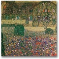 Trademark Global Gustav Klimt in.Country Housein. Canvas Art, 24in. x 24in.