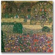 Trademark Global Gustav Klimt Country House Canvas Art, 24 x 24