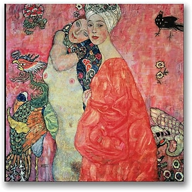Trademark Global Gustav Klimt in.Woman Friendsin. Canvas Art, 24in. x 24in.