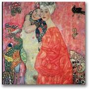 Trademark Global Gustav Klimt Woman Friends Canvas Art, 24 x 24
