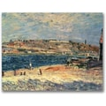 Trademark Global Alfred Sisley in.River Banks at Saint Mammesin. Canvas Arts