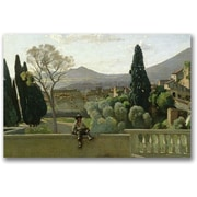 "Trademark Global Jean Baptiste Corot ""The Gardens of the Villa"" Canvas Art, 18"" x 24"""