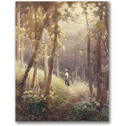 "Trademark Global John Faraquharson ""A Woodland Glade"" Canvas Art, 24"" x 18"""