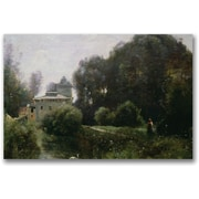 "Trademark Global Jean Baptiste Corot ""Souvenir of the Villa Borghese"" Canvas Art, 16"" x 24"""
